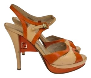 Fendi Orange Platforms