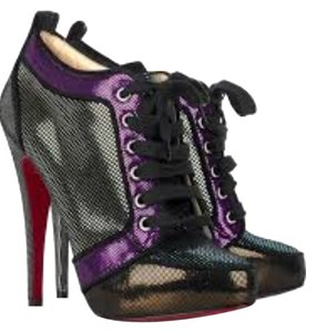 Christian Louboutin Sparkle Venus Orlato Lace Up Silver Boots