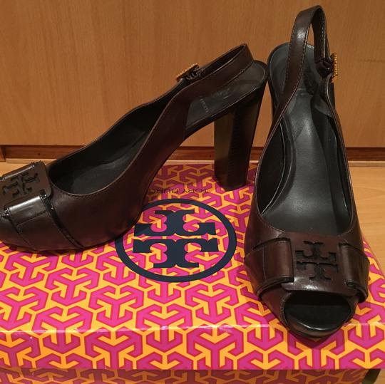 Tory Burch Dark Chocolate Brown Pumps