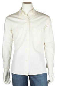Escada Button Down Shirt Cotton Button Down Shirt White