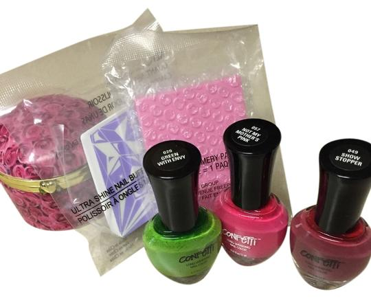 Other Bundle/ Lot of NWOT trio of nail Polish, nail buffer, emery pack, and porcelain mini jewelry box