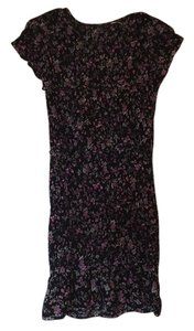 Free People short dress Black/floral on Tradesy