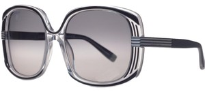 DSquared DSquared Black/Clear Oversized Square Full Rim Sunglasses