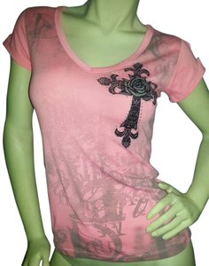 Ocasion Angel Wings Cotton Cool T Shirt Salmon