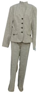 Kay Unger Kay Unger Tan Heathered Pant Jacket Set Suit 14