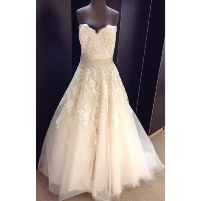 Item - Ivory/Light Gold Lace & Tulle Formal Wedding Dress Size 20 (Plus 1x)