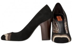 Missoni for Target Black Suede with Brown/Tan Chevron Pumps