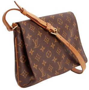Louis Vuitton Lv Musette Small Tango Canvas Canvas Leather Musette Tango Shoulder Bag