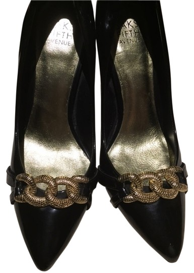 Preload https://item4.tradesy.com/images/saks-fifth-avenue-shoe-gold-and-black-formal-6034393-0-0.jpg?width=440&height=440