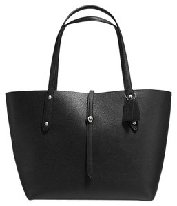 Coach Tote in Black and Bramble Rose