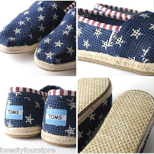 Other Toms Freetown Star Espadrille Patriotic Red White Blue Flats