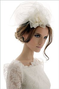 Elizabeth Fillmore Belle Ivory Fascinator Bridal Headpiece