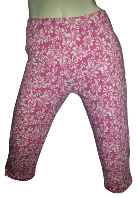 Basic Editions Capris pink floral