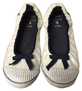 Polo Ralph Lauren White and navy blue Flats