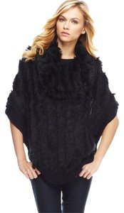 Hale Bob Rabbitfur Fur Poncho Sweater