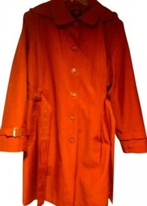 Gallery 3/4 Length Removable Lined Rain With Hood RUST Jacket