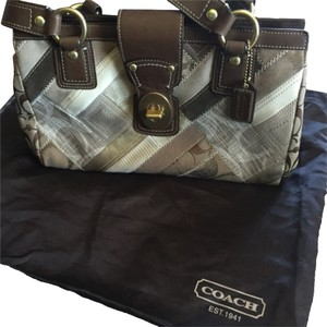 Coach Satchel in brown patterned