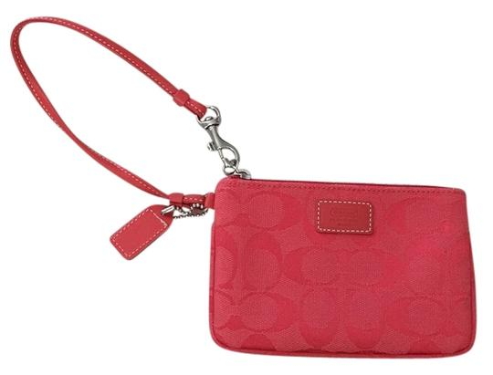 Coach Wristlet in Coral