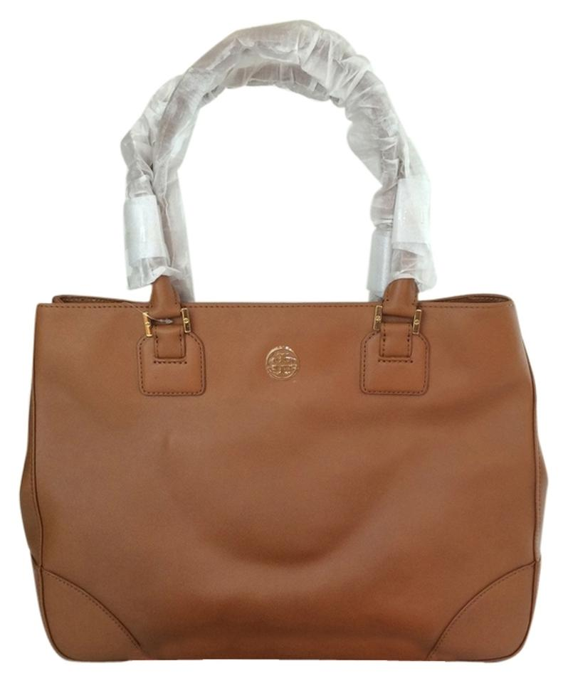 26c9e5dad1df Tory Burch Robinson Ew Large East West Tote in Luggage Brown Image 0 ...