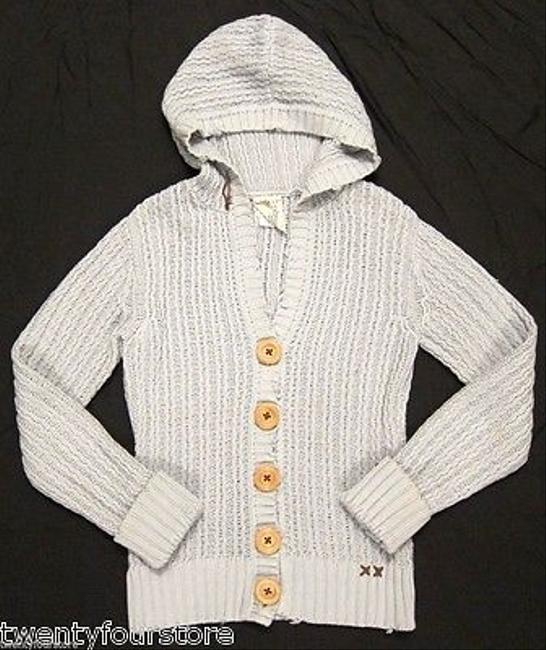 Project E E Button Front Hooded Cardigan Cotton In Vintage Sweater