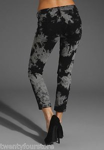 Current/Elliott The Stiletto Skinny In Smokestack Python Black Gray 25 Skinny Jeans