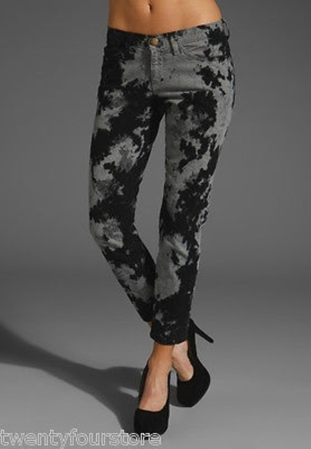 Current/Elliott The Stiletto In Smokestack Python Black Gray 25 Skinny Jeans