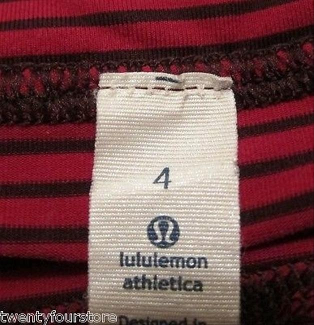 Lululemon Lululemon Run Pace Tight Crop In Hyper Stripe Bordeaux Drama Bumble Berry