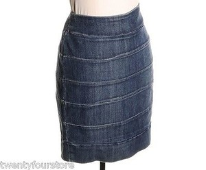 Current/Elliott Jeans Stretch Pencil W Zipper Closure 1 Skirt Blue