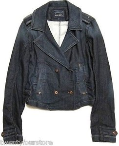 Diesel Womens Jogg Jeans Marlene Military Sweat Denim Womens Jean Jacket