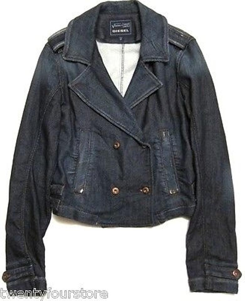 womens diesel jogg jeans marlene military sweat denim jacket tradesy