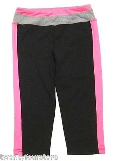 Hard Tail Hard Tail Tri Tone Flat Waist Legging Crops In Black Pink Gray Gym Yoga