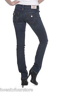 True Religion Wendy Flap Pocket In Lonestar 25 Straight Leg Jeans
