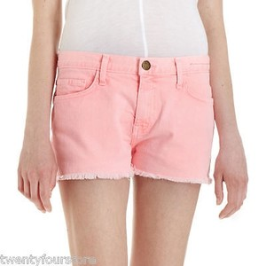 Current/Elliott Jeans The Boyfriend In Day Glow 25 Cut Off Shorts Pink