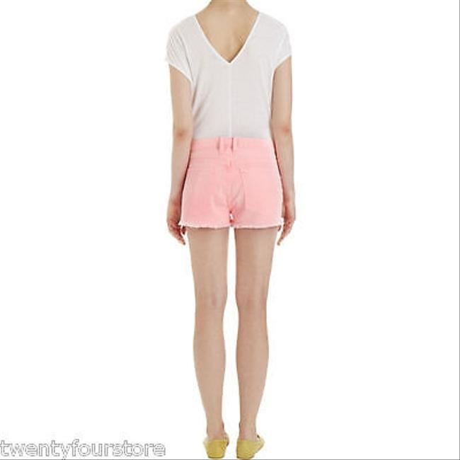 Current/Elliott Jeans The Boyfriend Day Glow 25 Cut Off Shorts Pink