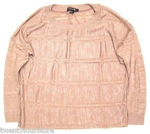 Forever 21 21 Oversized Cableknit Lightweight In Dusty Rose Sweater