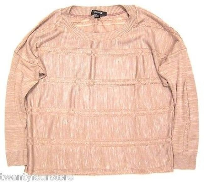 Preload https://item3.tradesy.com/images/forever-21-oversized-cableknit-lightweight-sweater-in-dusty-rose-pink-6037912-0-0.jpg?width=400&height=650
