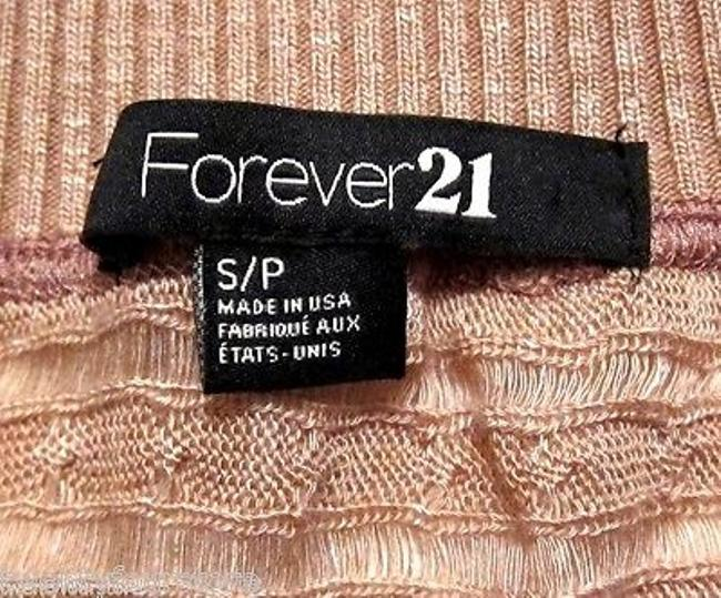 Forever 21 Oversized Cableknit Lightweight Dusty Rose Sweater