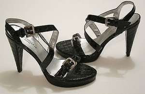Other Annabella Club Strappy Alligator Texture Patent Leather Blacks Pumps