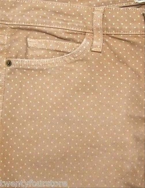 Current/Elliott Stiletto Skinny Leg In Haystack Polka Dot 27 Skinny Jeans