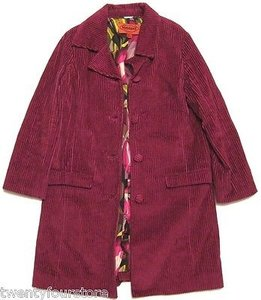 Missoni For Target Corduroy Trench Jacket In Magenta Pink Trench Coat