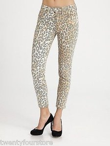 JOE'S Jeans Joes Wild Collection High Water High Waist Ankle Skinny In Leopard 27 Skinny Jeans