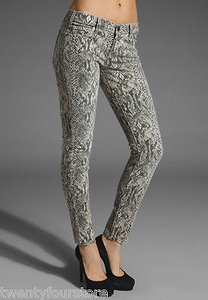 Current/Elliott The Ankle Skinny In Canvas Snake Print 25 Skinny Jeans