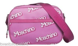 Moschino Capsule Collection Barbie Logo Shoulder In Satchel in Pink