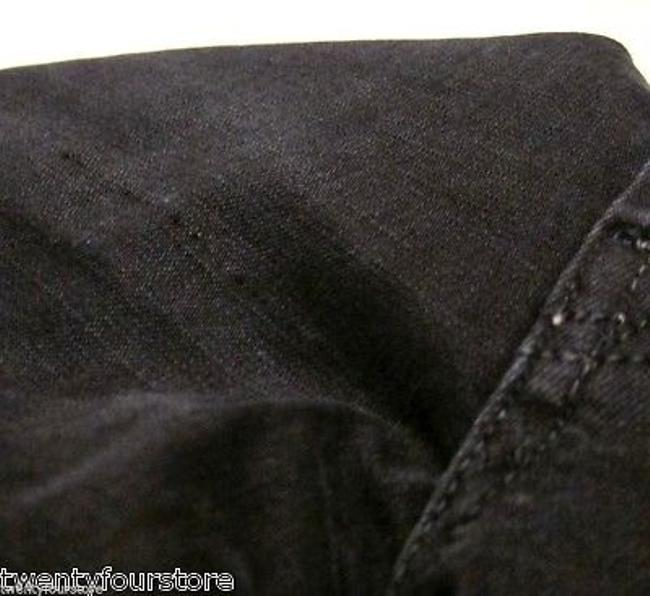 7 For All Mankind Vintage Seven In Black Twill Denim 27 Boot Cut Jeans