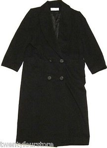 Dior Vintage Womens Christian Jacket Full Length Wool Usa Pea Coat