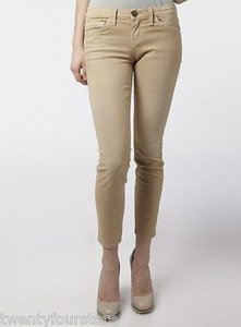 Current/Elliott The Stiletto Ankle In Haystack Polka Dot Skinny Jeans