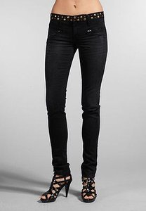 JOE'S Jeans Joes Studded Chelsea Skinny Leg In Connor Black Distress Denim 25 Skinny Jeans