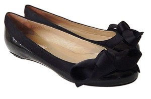 Valentino Patent Leather Ribbon Black Flats
