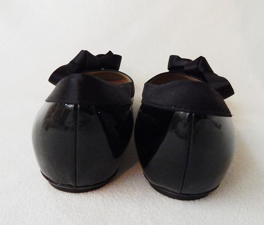Valentino Patent Leather Ribbon Ballerina Balet Black Flats