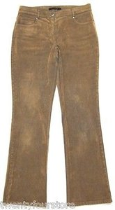 Elie Tahari Corduroy Two Tone Tan With Blue Base Layer Boot Cut Jeans